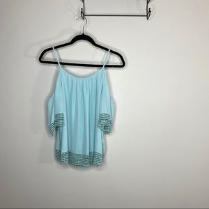 Parker Blue Cold Shoulder Blouse
